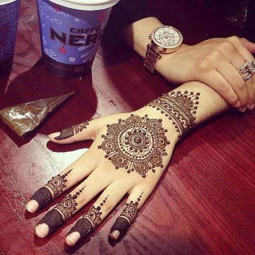 Backhand Circular Pattern Mehndi Design